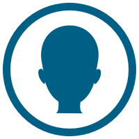 Silhouette of head icon