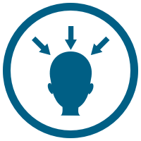 Head with arrows icon