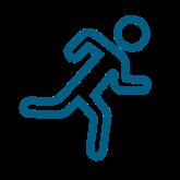 Person running illustration