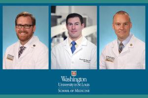 Adam Bevan, MD, PhD, Dan Hafez, MD, PhD and Peter Sylvester, MD graduate from Neurosurgery residency