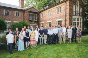 Neurosurgery chair Greg Zipfel, MD, hosted the graduation party at at his home on June 18, 2021.
